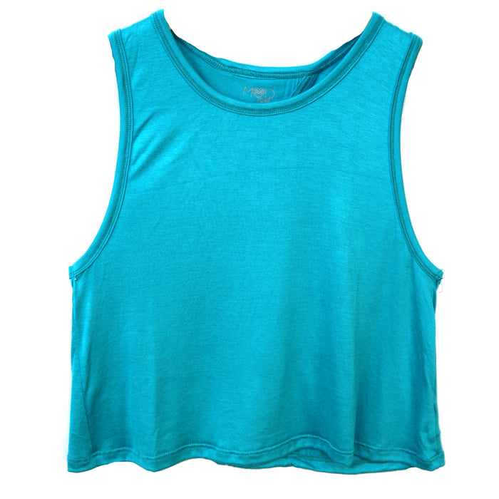Girl's Work It Out Tank- AQUA