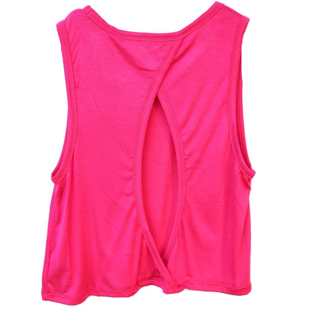 Girl's Work It Out Tank- Fuchsia