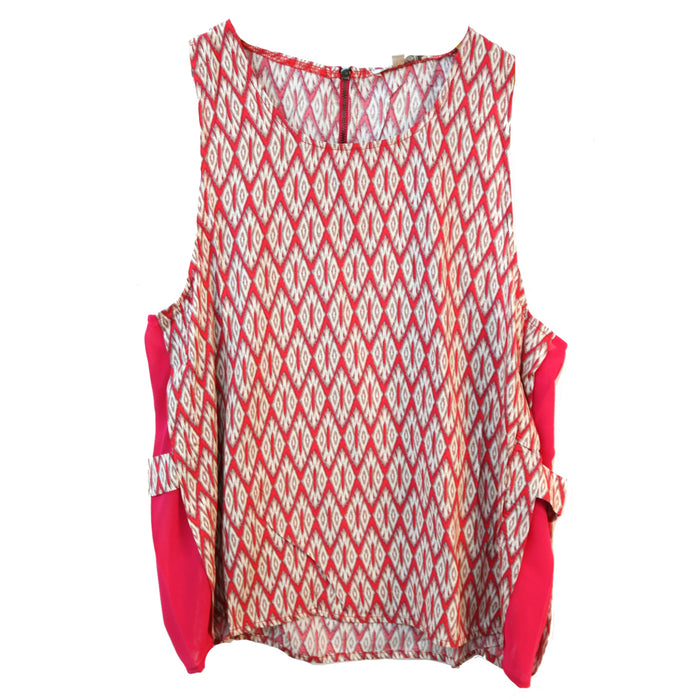 Aztec Side Panel Top- Red