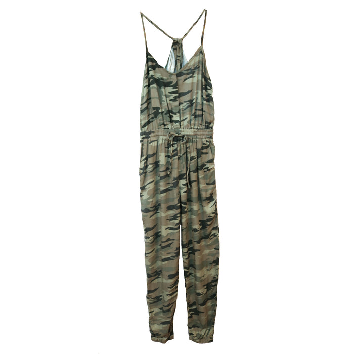 Camouflage Jumpsuit- Olive