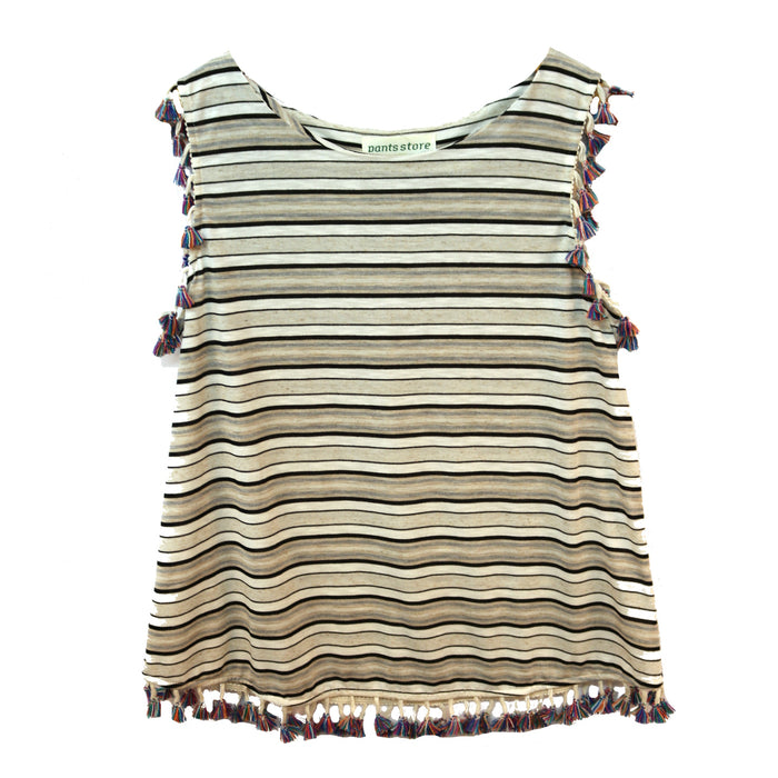 Stripes for Everyone Top- Cream multi
