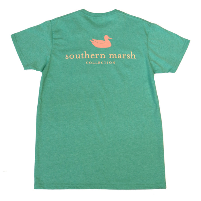 Southern Marsh Authentic Tee- Washed Kelly Green