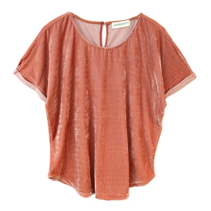 Crushed Velvet Tee- Ginger