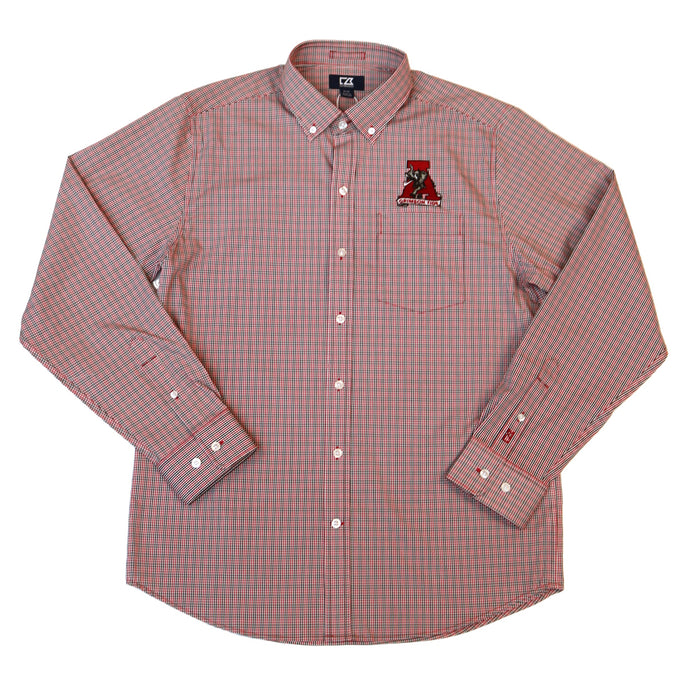 Cutter and Buck L/S Casey Check Button Down- Vault