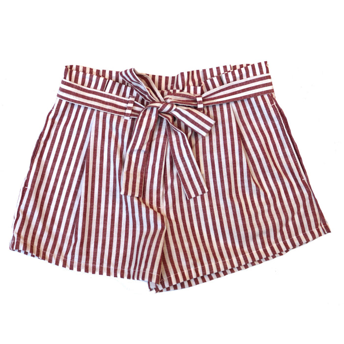 Sailor Stripe Short- Red