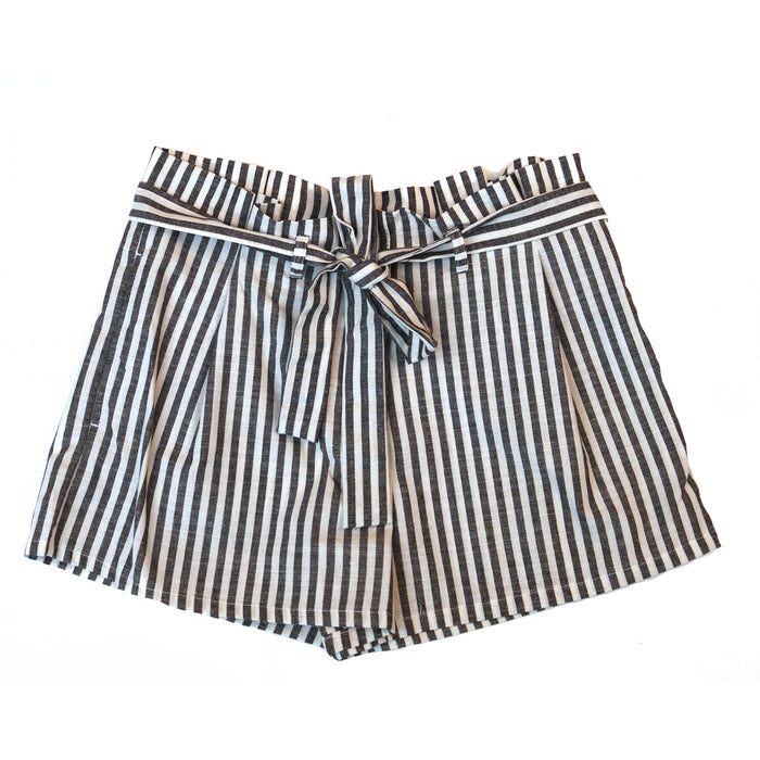 Sailor Stripe Short- Black