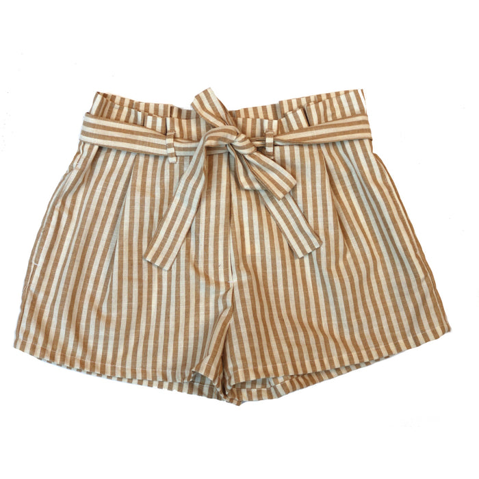 Sailor Stripe Short- Taupe