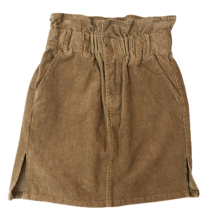 Gathered Corduroy Mini Skirt - CTB452SK-SND