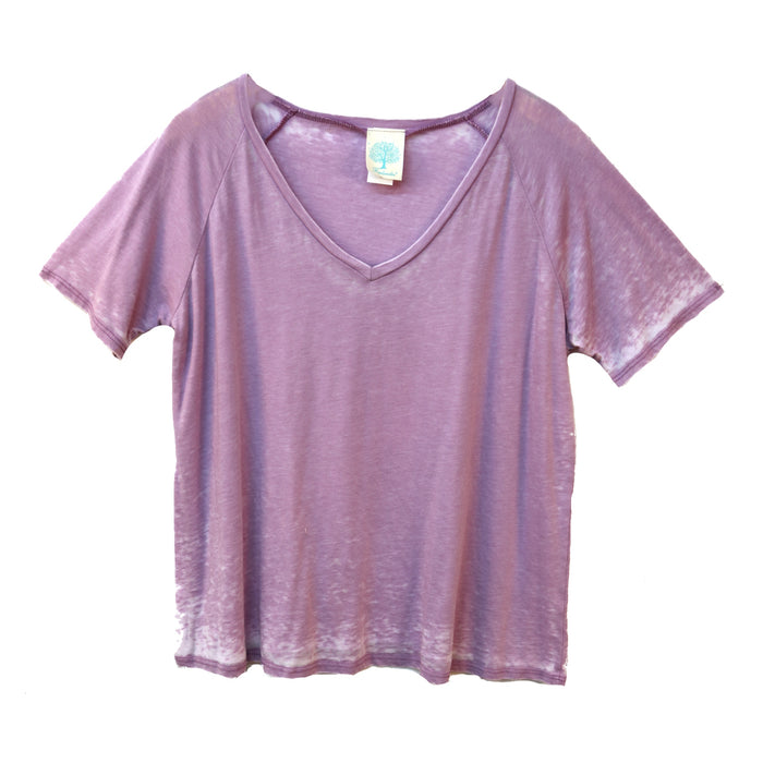 Bridges Burned Tee- Lavender