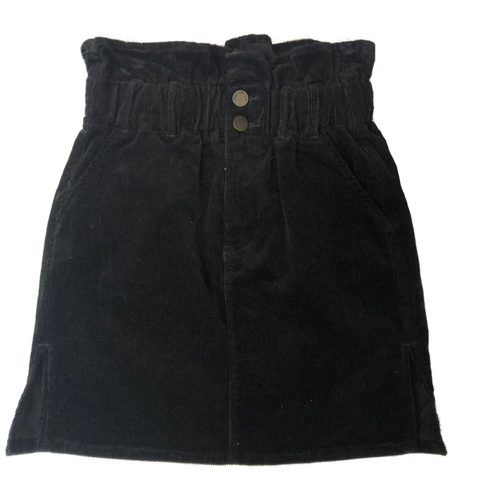 Gathered Corduroy Mini Skirt - CTB452SK-BLK