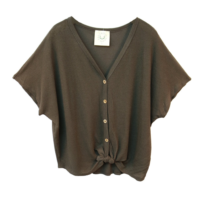 Everyday Classic Top- Charcoal