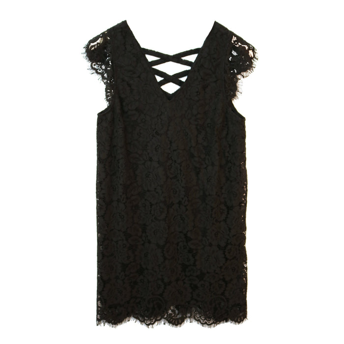 All Laced Up Dress- Black