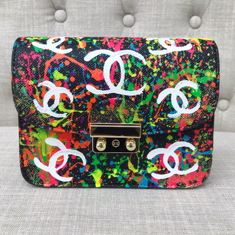 Carolina Bright CC Crossbody- Black/ Splatter
