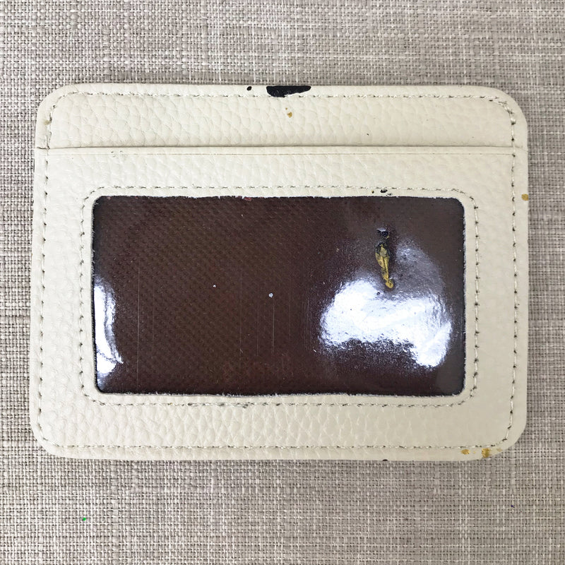 Lucky Metallic CC Credit Card Holder- White/ Black
