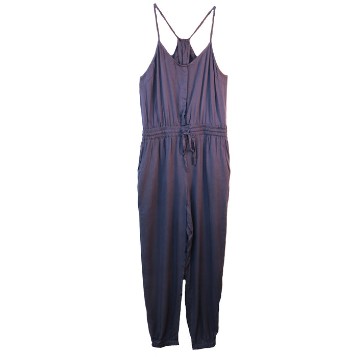 Jump into the Weekend Jumpsuit- Washed Denim