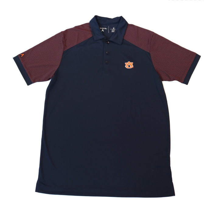 Antigua Engage Auburn AU Polo- Navy/Mango