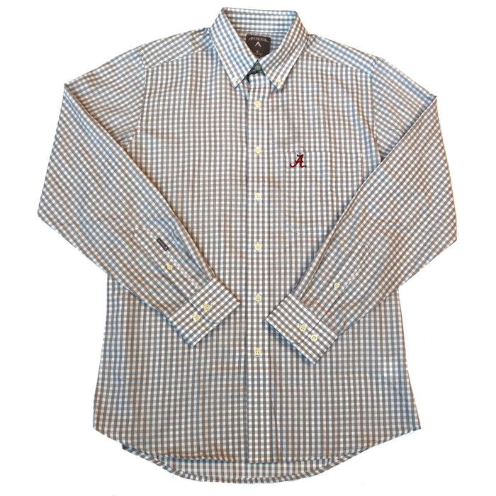 Antigua Rank Alabama A Button Down- Steel/White