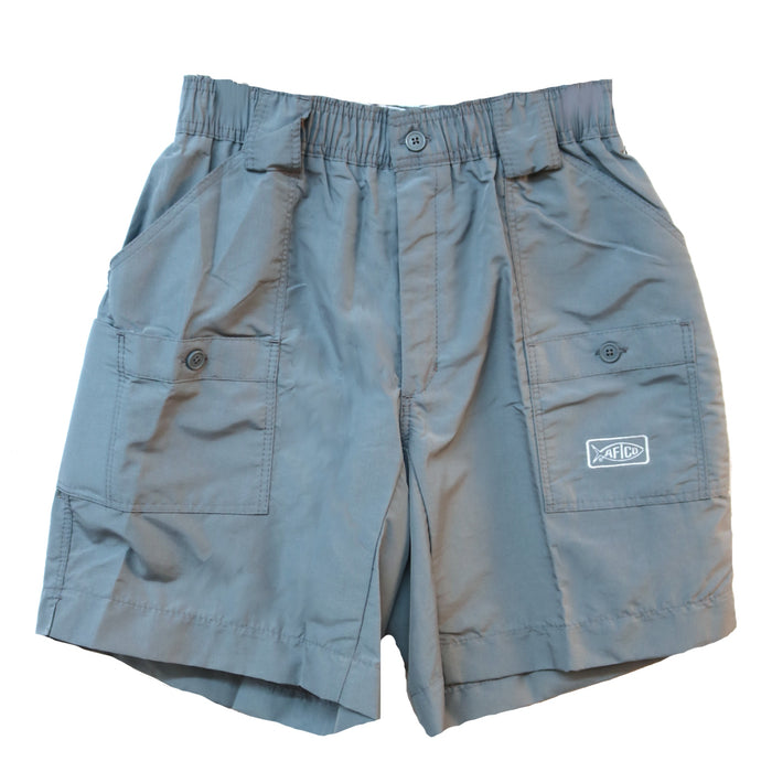 Aftco Long Fishing Short- Granite