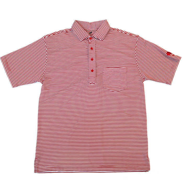 Horn Legend Elephant Head Polo- Crimson/White