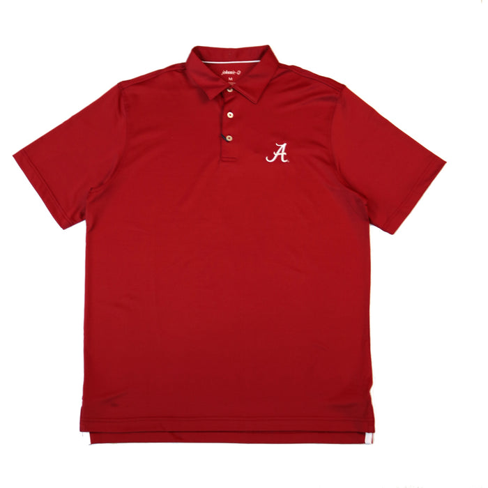 Johnnie-O Birdie Alabama A Polo- Crimson