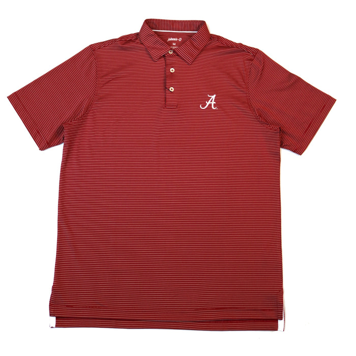 Johnnie-O Albatross Alabama A Polo- Crimson