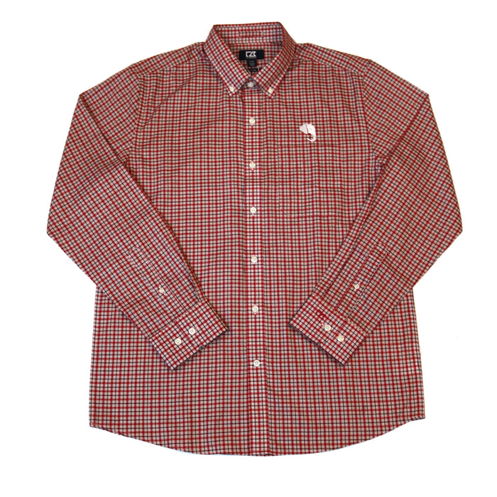 Cutter & Buck Lakewood Check with Elephant Head Button Down - MCW00132CDR-EH