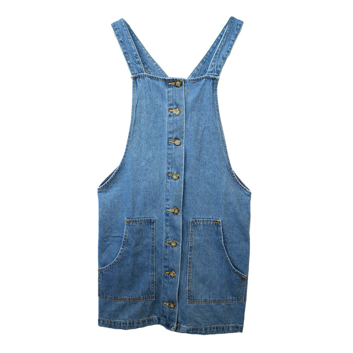 Button Down Overall Dress - NKD757601-LT.DNM