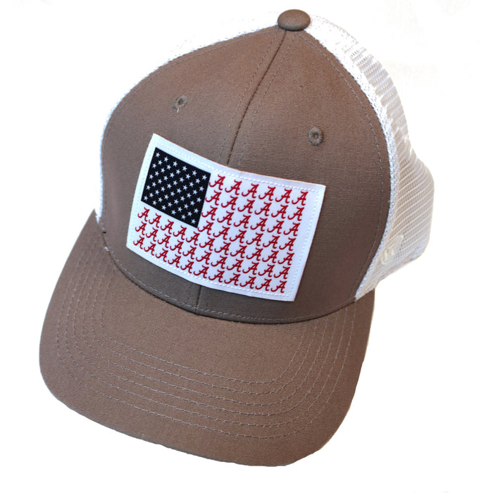 "Alabama ""A"" flag Trucker Hat - NOT FISH UA-CRI"