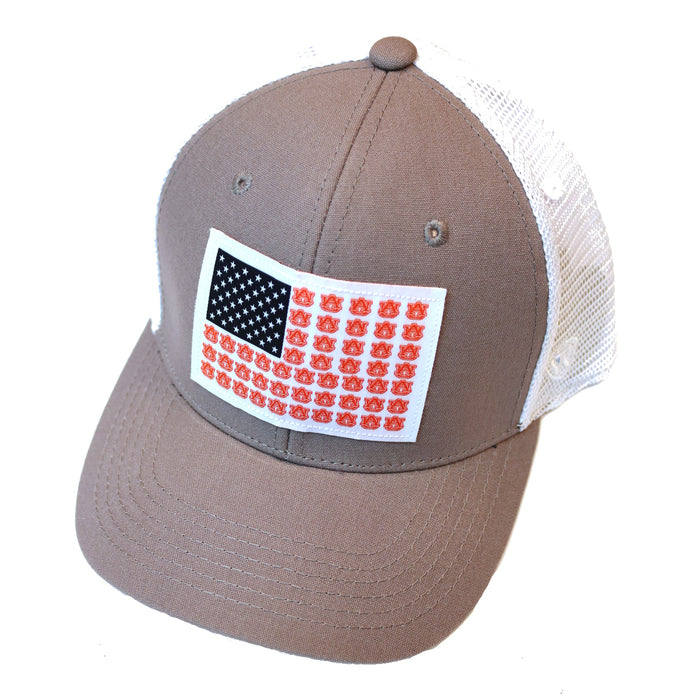 Auburn Flag Trucker Hat - NOT FISH AU-NVY
