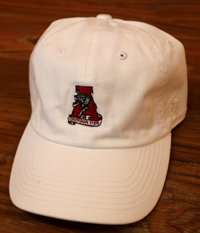Alabama Hat with Retro Logo - PAUL DAD HAT-WHT