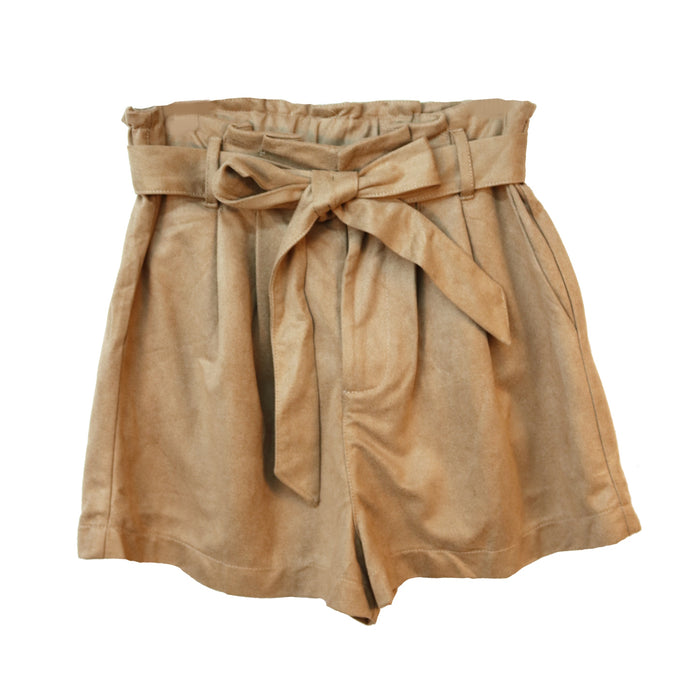 Suede All Tied Up Short - SL7830-TPE