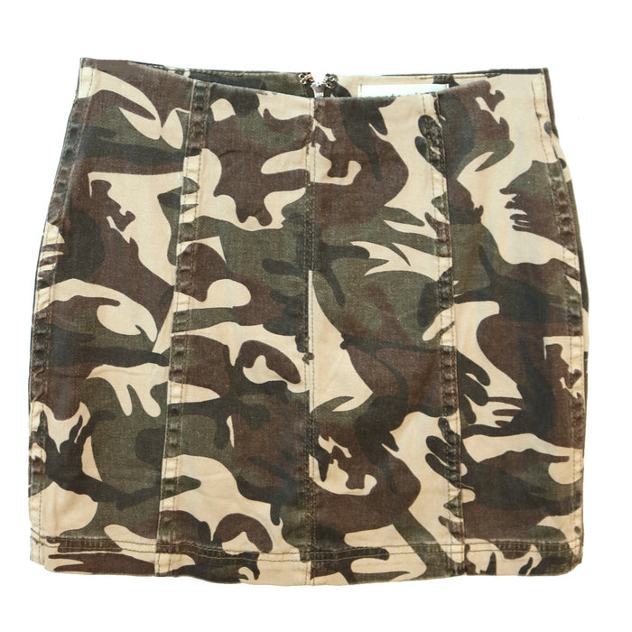 Work to Play Camo Edition Skirt - NKS205402-OLV