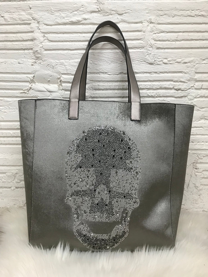 Ahdorned Crystal Skull Tote