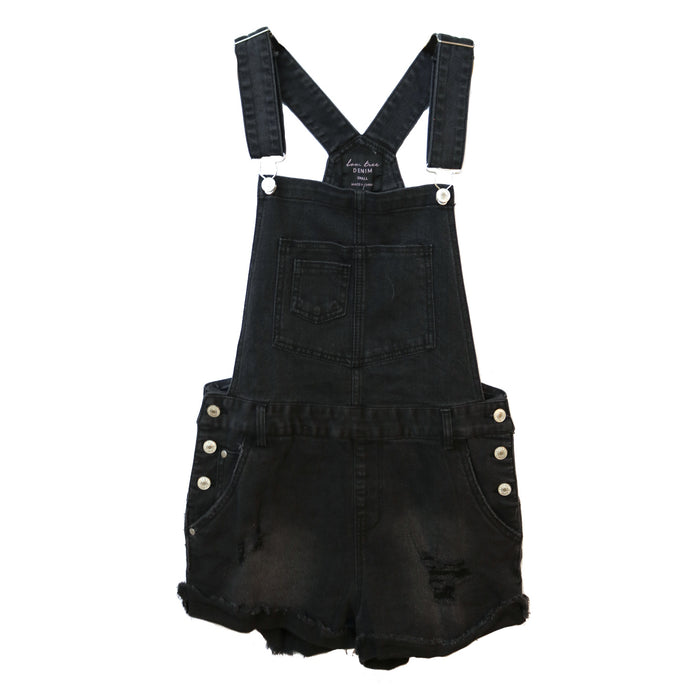 Denim Overall Cutoffs - 1984TS-BLK