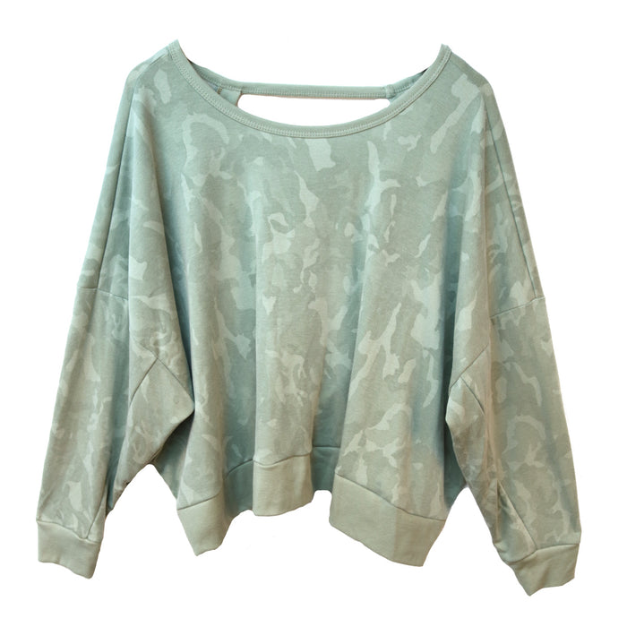Camo Open Back Pullover - BP385-MIL
