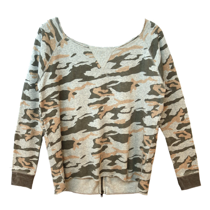 Back to Back Camo Pullover - VH3639-GRY/PNK
