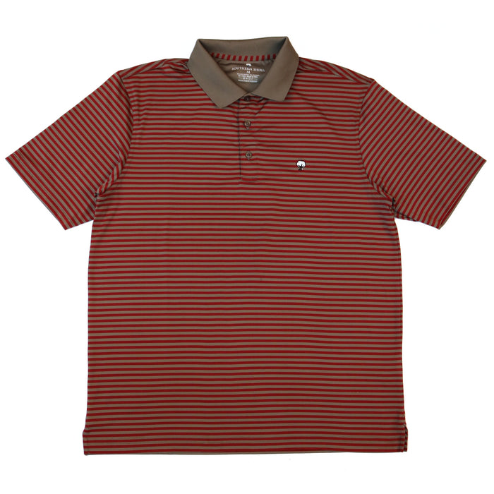 The Southern Shirt Company Bryant Stripe Polo - BRYANT STRIPE-RED