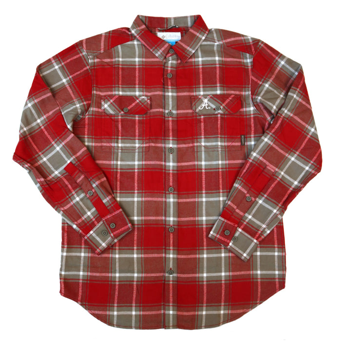 Columbia Collegiate Flare Gun L/S Flannel- Alabama Red/ Grey