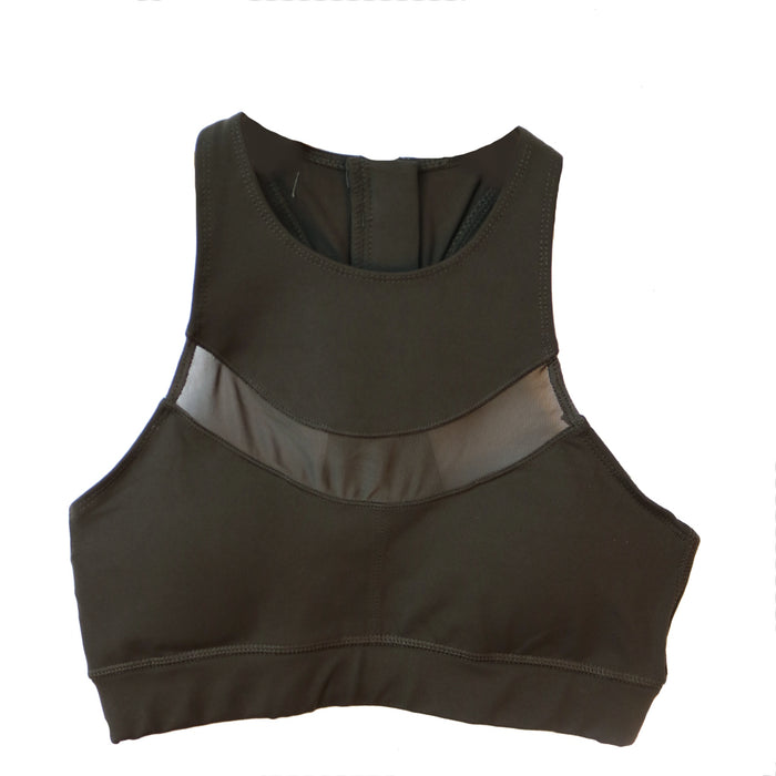 Don't Mesh with Me Sports Bra - AT1930-BROWN