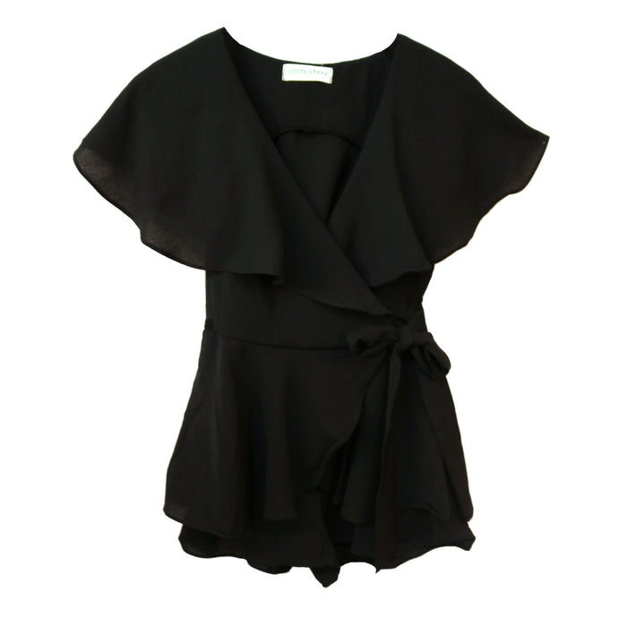 Little Black Playsuit - RC15364-BLK