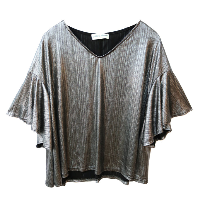 Silver Bells Short Sleeve Top - CT2091-SH1-BLK/SIL