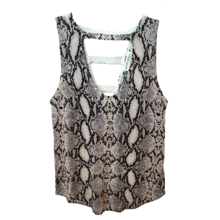 Snakeskin Sleeveless Sweater - 97-103LTL-SNK