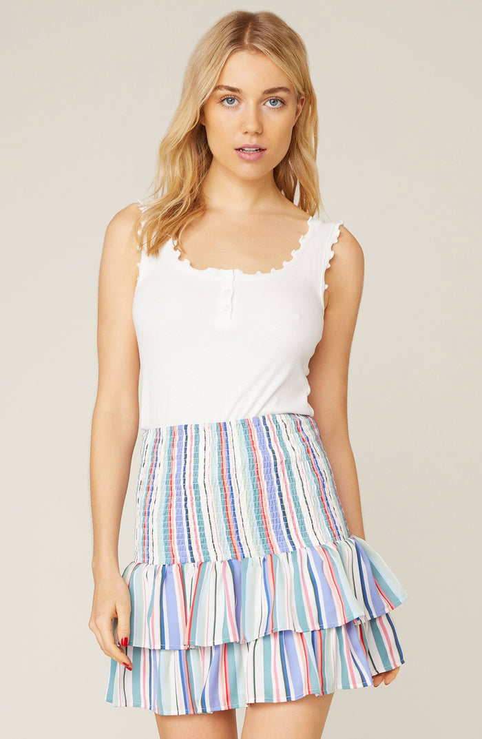 Jack Smock Treatment Striped Skirt
