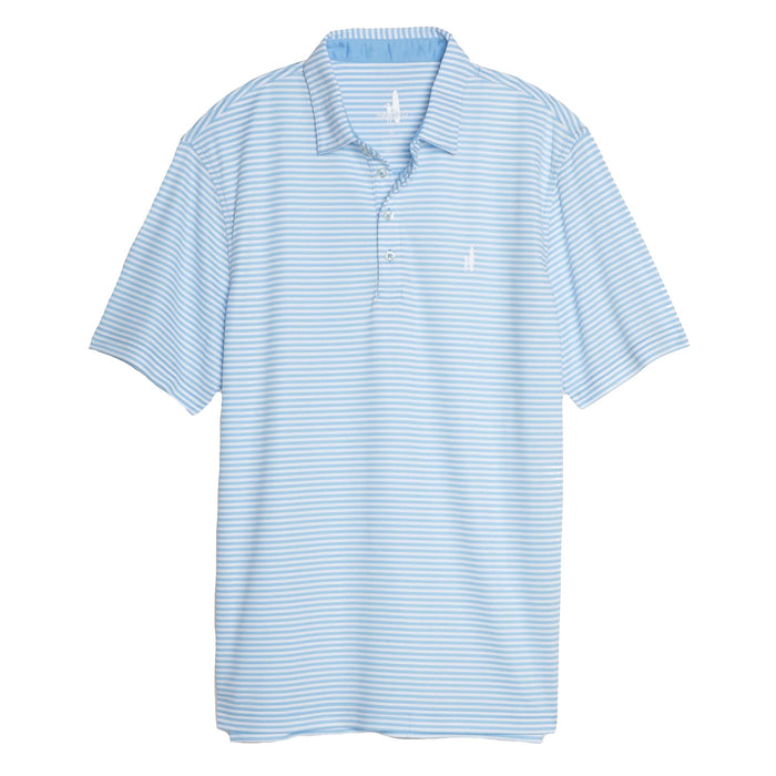 Johnnie-O Bunker Prep-formance Striped Pique Polo- Free Dive- JMPO2080-FRE