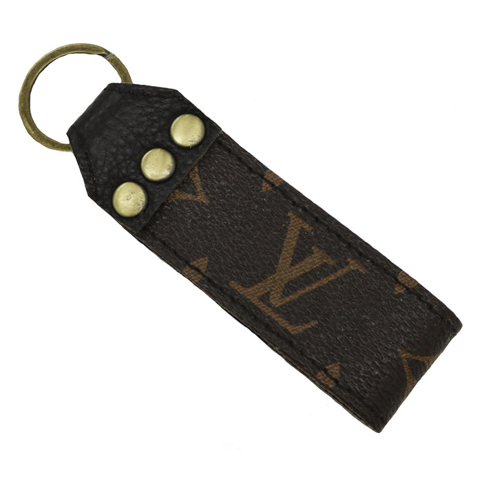 Authentic Repurposed Louis Vuitton Keychain- LEATHER KEYCHAIN