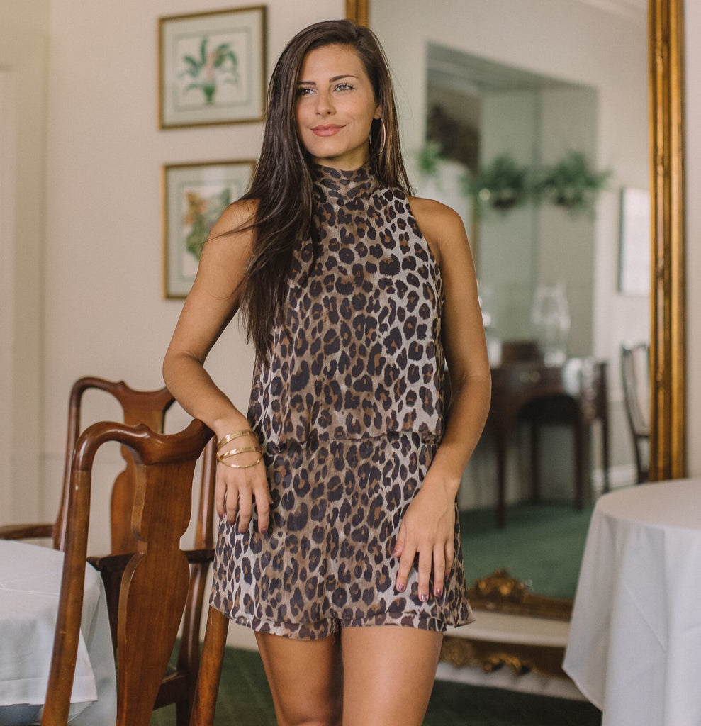 On The Prowl Romper- Leopard- Y17466YAW-LEO