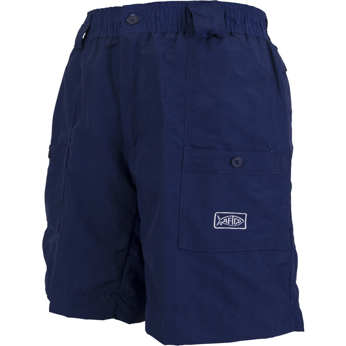 Aftco Long Fishing Short- Navy