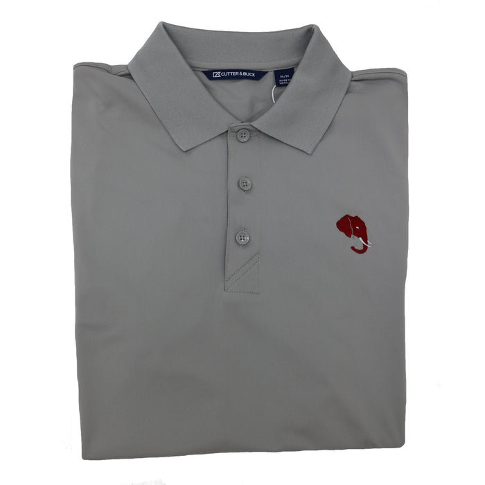 Cutter and Buck Alabama Elephant Head Logo Forge Polo- Polar Grey- MCK00107POL-EH