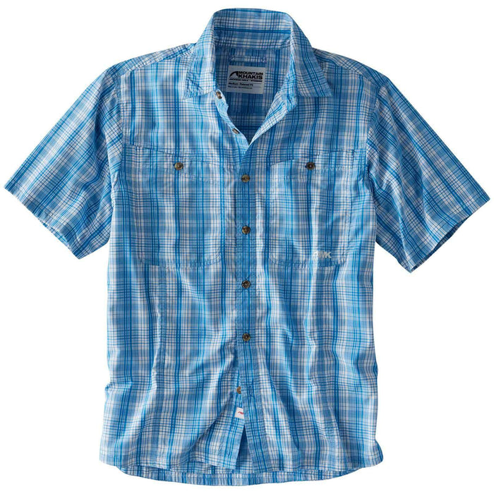 Mountain Khakis Trail Creek S/S Button Down- Azure Blue