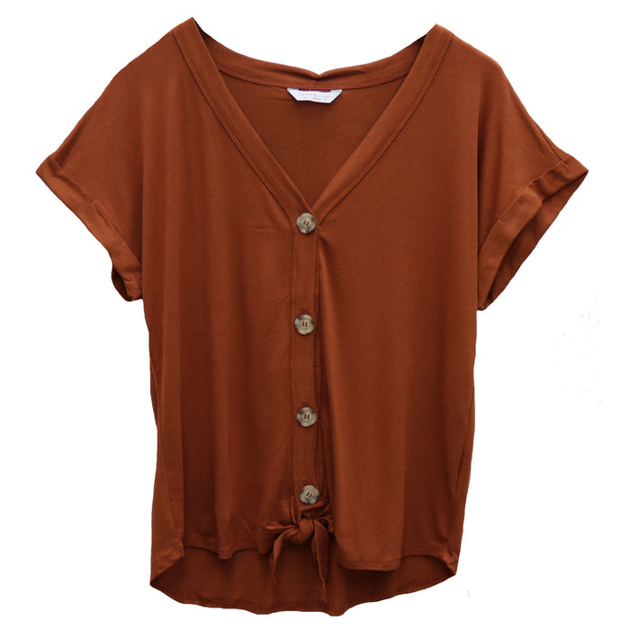 Work To Weekend Top- Rust- FRBD-B25601-RUS